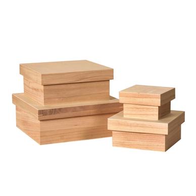 boite en bois d corer set de 4 pi ces artemio chez rougier pl. Black Bedroom Furniture Sets. Home Design Ideas