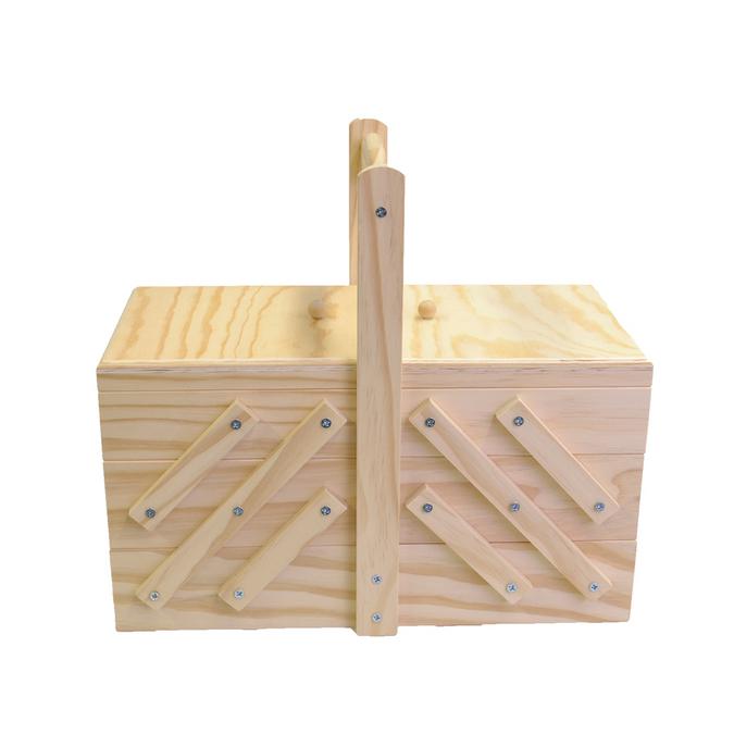 Boite de couture en bois 32 x 16 x 29 cm