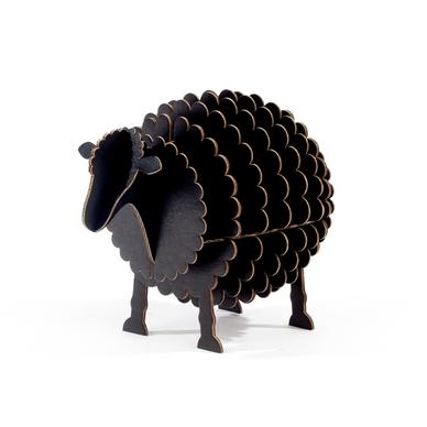 mouton noir monter en carton taille s cocorikraft chez rougier pl. Black Bedroom Furniture Sets. Home Design Ideas