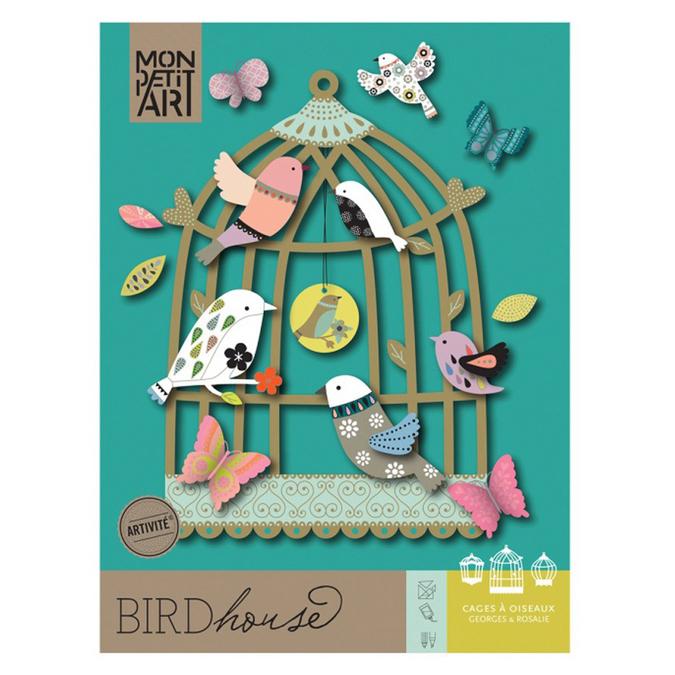 Cage à oiseaux - jeu en papier à monter