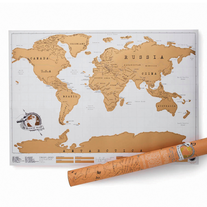 Carte du monde à gratter Scratch map