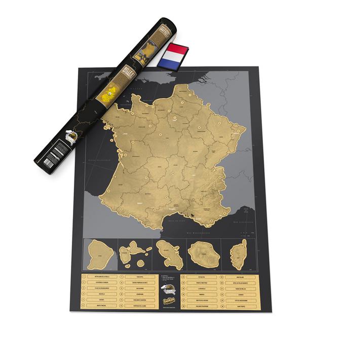 Carte de France à gratter