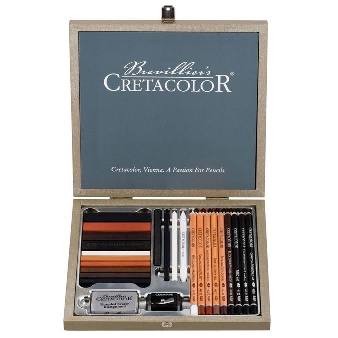 Crayons et outils esquisse coffret Passion Box Cretacolor