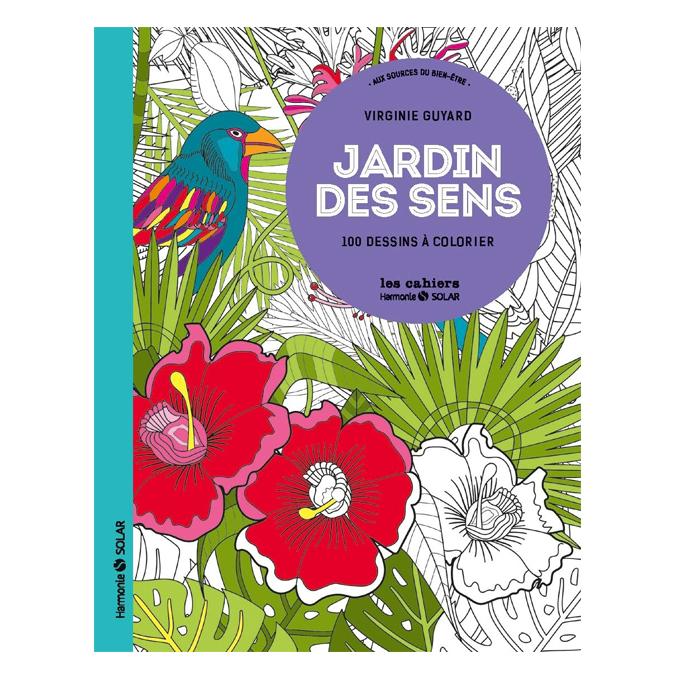 Livre dessin à colorier Jardin des sens