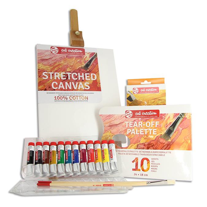 Peinture à l'huile ArtCreation 12 x 12 ml + accessoires