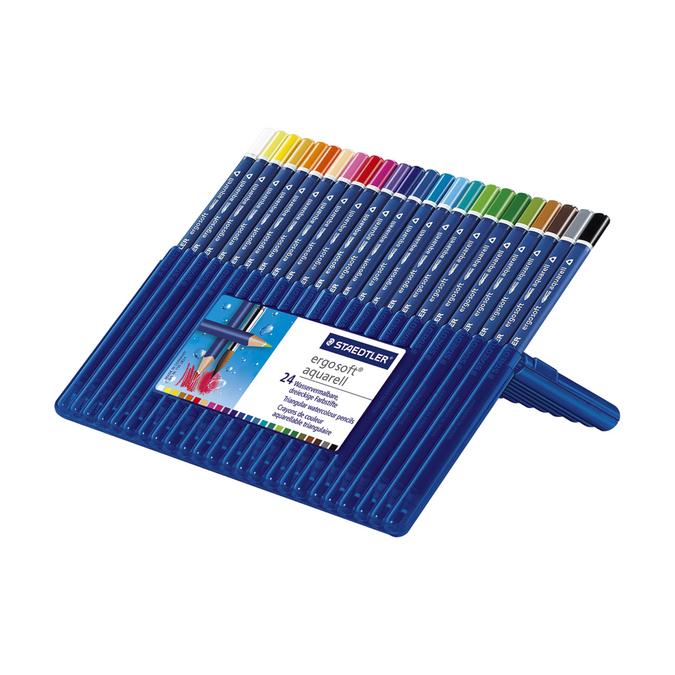 Boîte de 24 crayons aquarellables Ergosoft