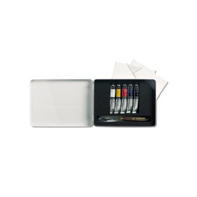 peinture acrylique extra fine couteaux coffret voyage 5. Black Bedroom Furniture Sets. Home Design Ideas