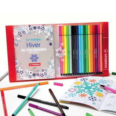 coffret coloriage anti stress stabilo