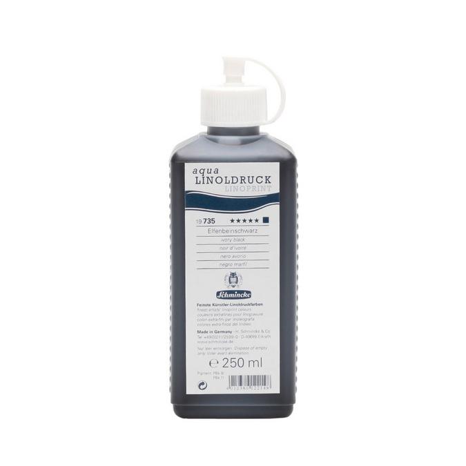 Encre noire pour linogravure Aqua Linoldruck 250 ml
