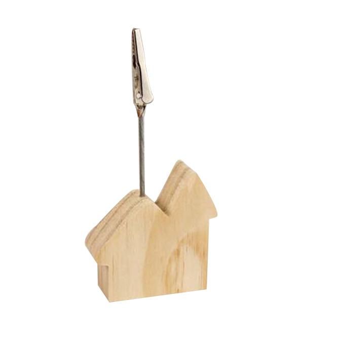 Marque-place maison avec pince 11 x 5,2 x 2 cm