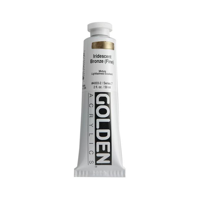 Peinture acrylique iridescente 60 ml 4020 - Perle iridescent fin