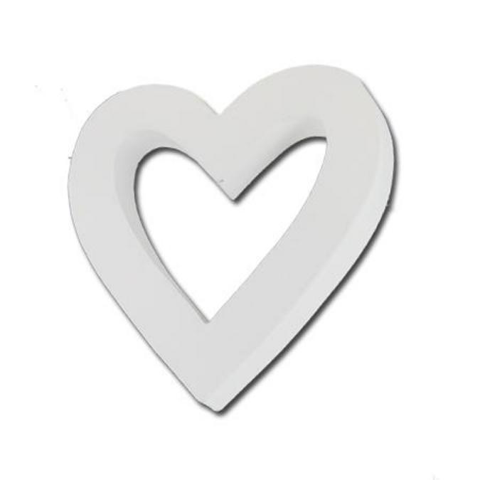 Coeur vide en papier mâché