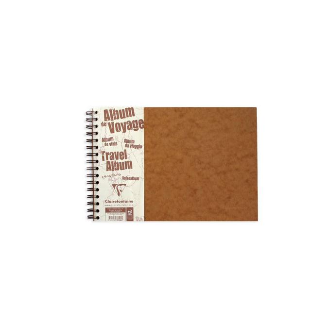 Album de voyage Age Bag tabac pages lignés + pages unis noirs