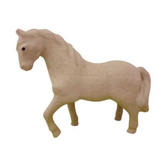 Objet en papier mâché cheval 28 cm