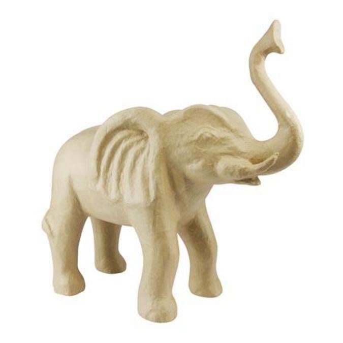 Objet en papier mâché éléphant 47,5 x 20 x 50 cm