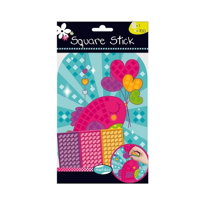 Stickers mosaïque Square Stick - thème cœur
