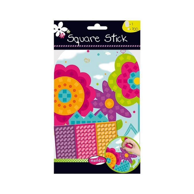 Stickers mosaïque Square Stick - thème fleur