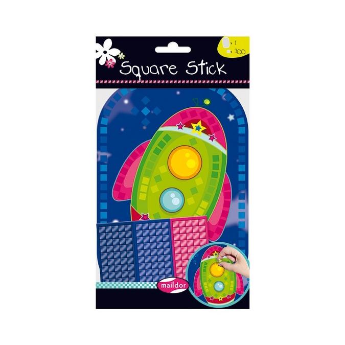 Stickers mosaïque Square Stick - thème fusée