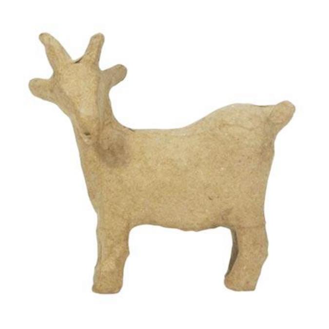 Objet en papier mâché chèvre 10 x 4 x 10 cm