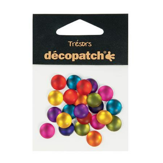 Cabochons ronds 1 cm Flashy 24 pces