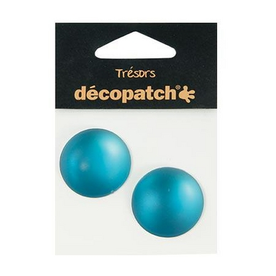 Cabochons  2 ronds  3 cm  turquoise