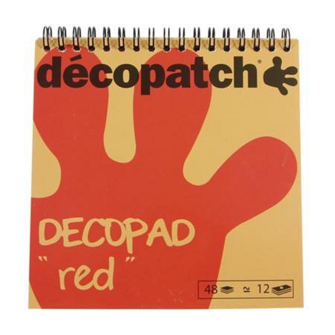 Bloc Color Décopad Rouge