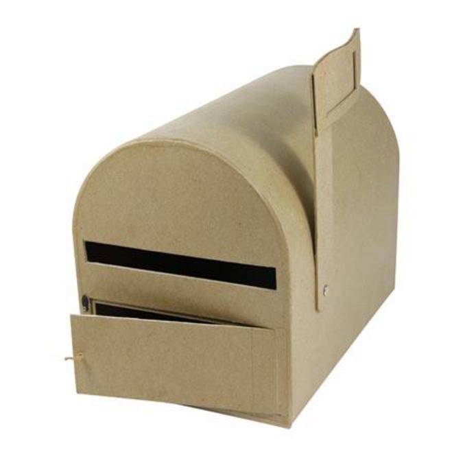 Objet en papier mâché urne boîte aux lettres 29 x 19 x 23 cm