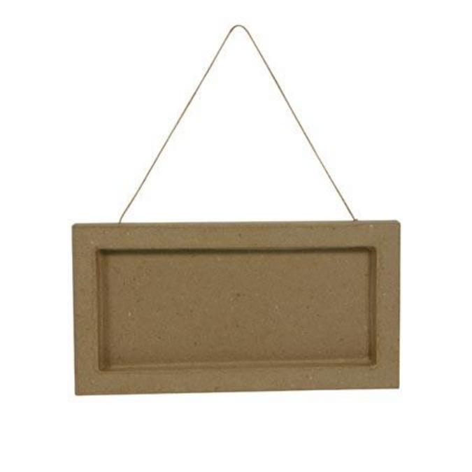 Objet en papier mâché plaque de porte 21 x 11 x 1 cm
