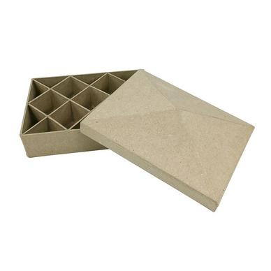 objet en papier m ch bo te compartiments rectangle d copatch chez rougier pl. Black Bedroom Furniture Sets. Home Design Ideas