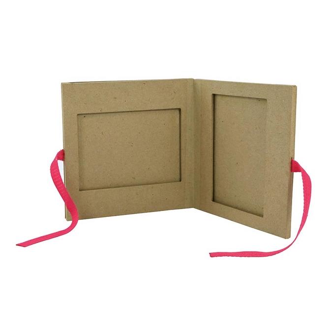 Objet en papier mâché cadre album 1 x 16 x 16 cm