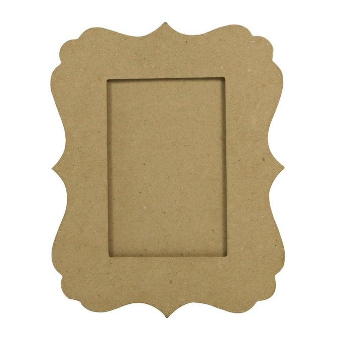 Objet en papier mâché cadre feston 1 x 20 x 25 cm