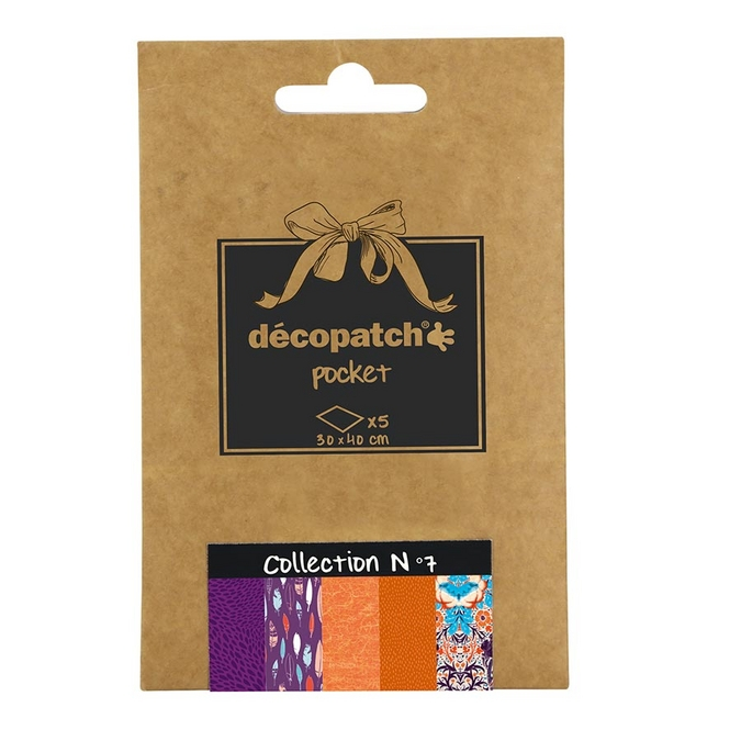 Lot de 5 papiers - Déco Pocket n°7