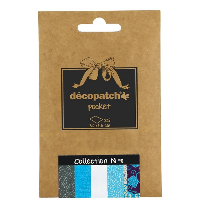 Lot de 5 papiers - Déco Pocket n°8