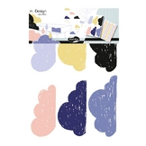 Stickers muraux M.Design nuages 2 planches