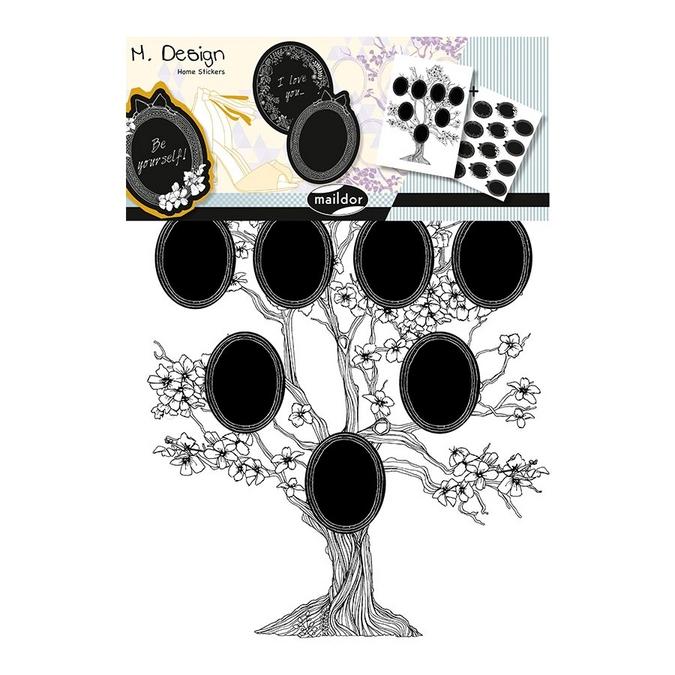 Stickers muraux M.Design arbre généalogique 2 planches