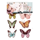 Stickers muraux M.Design papillons 2 planches