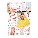 Stickers muraux M.Design princesses 2 planches
