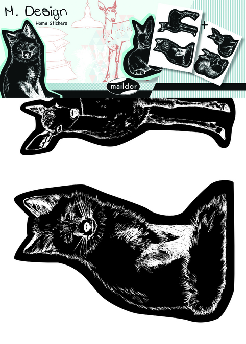 Stickers muraux M.Design animaux de la forêt 2 planches