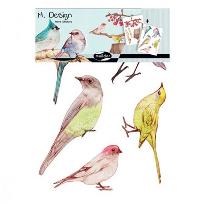 Stickers muraux M.Design oiseaux 2 planches