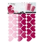 Stickers muraux M.Design cœurs rose 2 planches