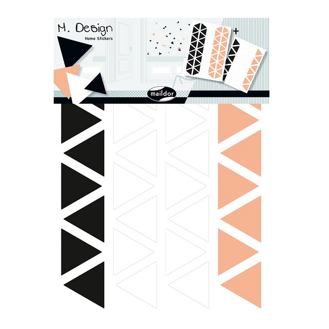 Stickers muraux M.Design triangles 2 planches