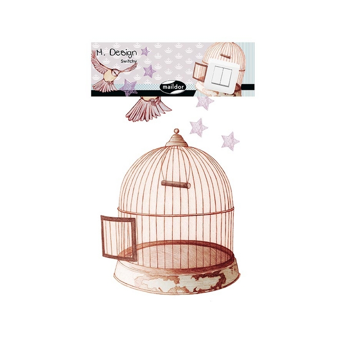 Stickers interrupteur M.Design - Switchy cage oiseaux