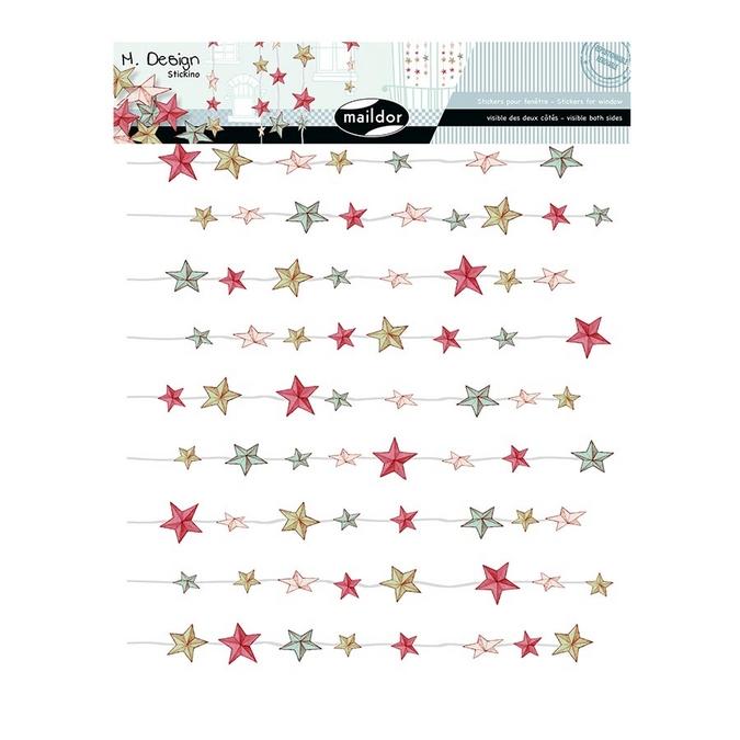 Stickers fenêtre M.Design rideau d'étoiles