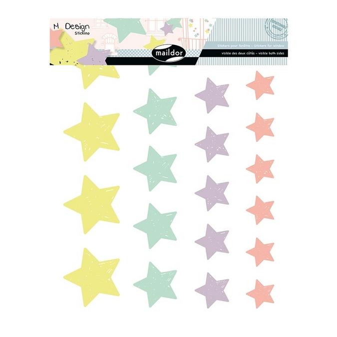 Stickers fenêtre M.Design guirlandes d'étoiles