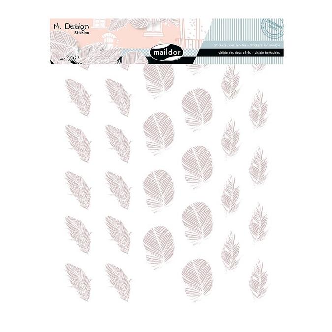 Stickers fenêtre M.Design plumes