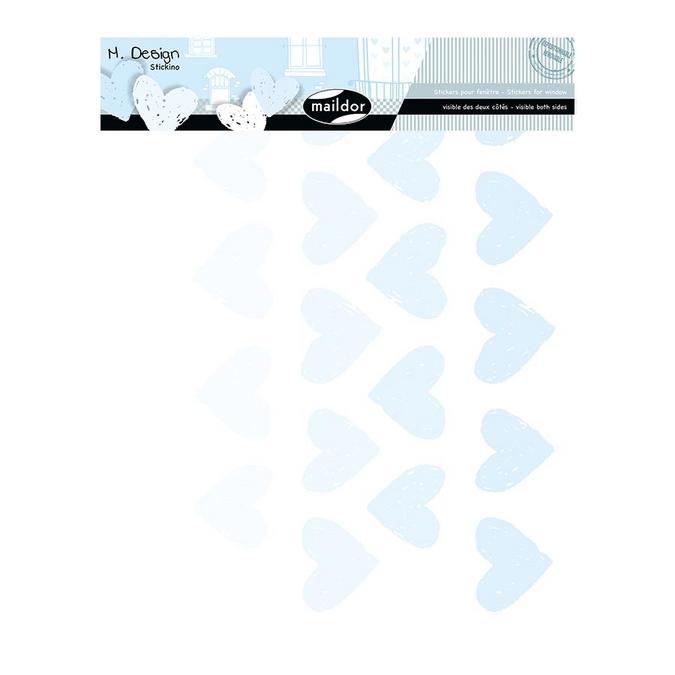 Stickers fenêtre M.Design petits cœurs