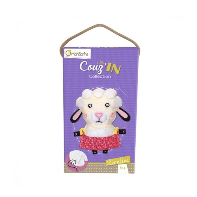 Peluche à confectionner Little Couz'in Léontine le mouton