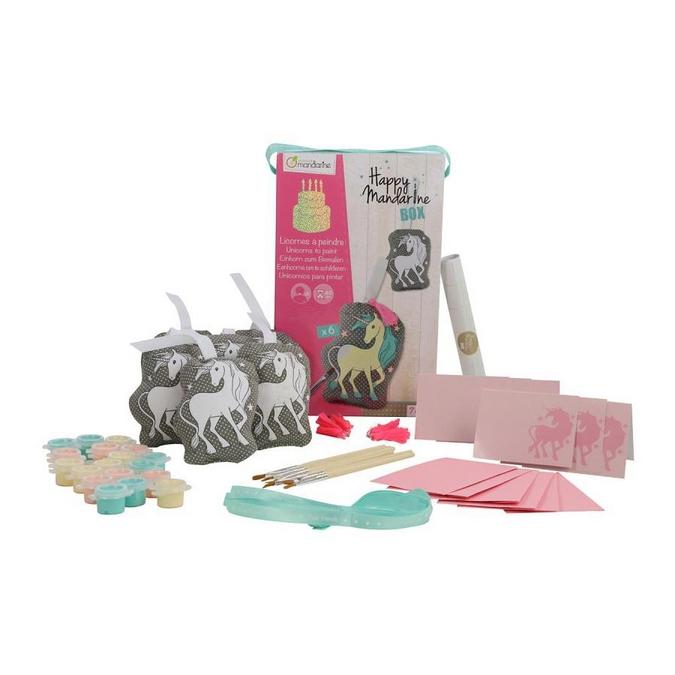 Jeux pour anniversaire Happy Mandarine Box - Licornes