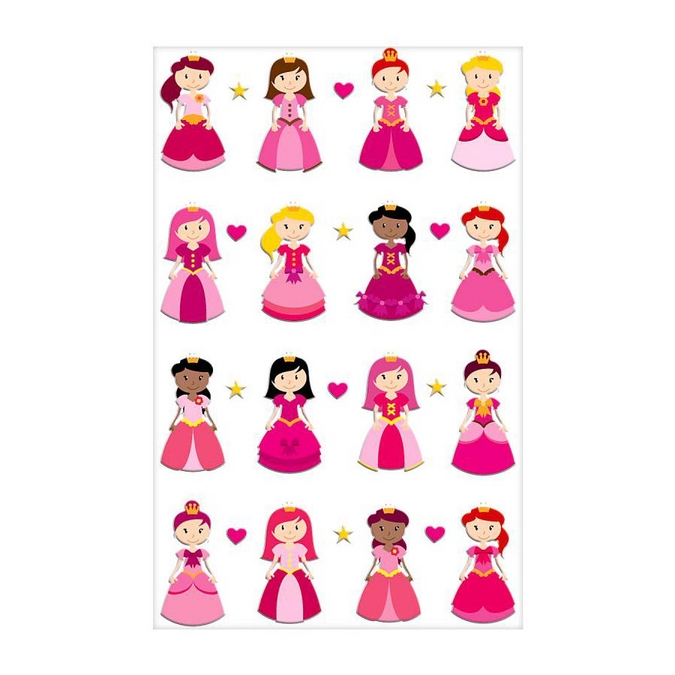 Stickers 3D Cooky princesses II x 16