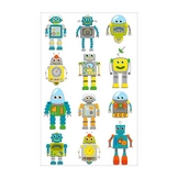 Stickers 3D Cooky robots x 12